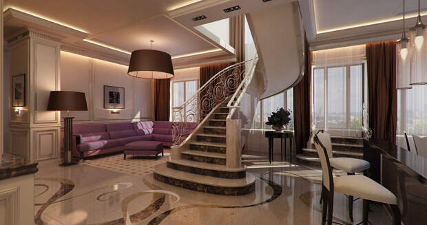 В Москве у бизнесмена арестовали 4-этажную квартиру за 320 млн рублей