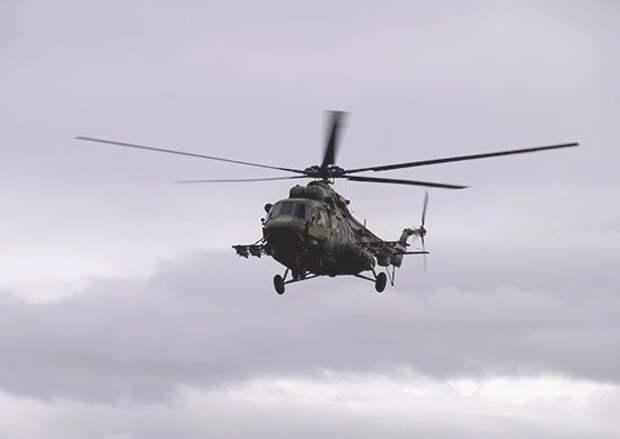 В Подмосковье разбился военный вертолет с тремя членами экипажа