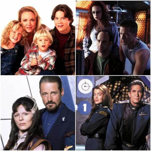 Коллаж автора - кадры из сериалов ТВ-6: «Грейс в огне», «Первая волна», «Вавилон 5»