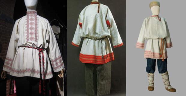 Рубахи из музейных собраний.