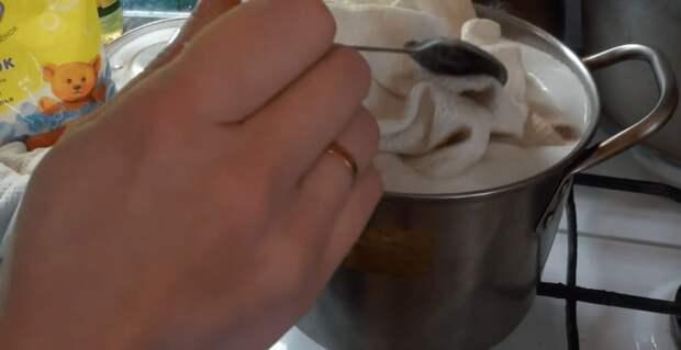 Уникальный способ отбеливания кухонных полотенец без стирки и вываривания