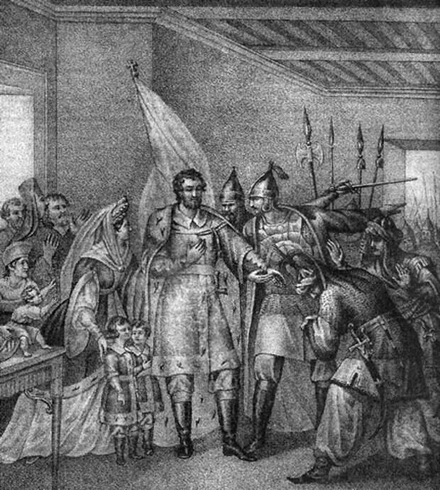 Московская знать вокруг князя Василия II Темного и его семьи