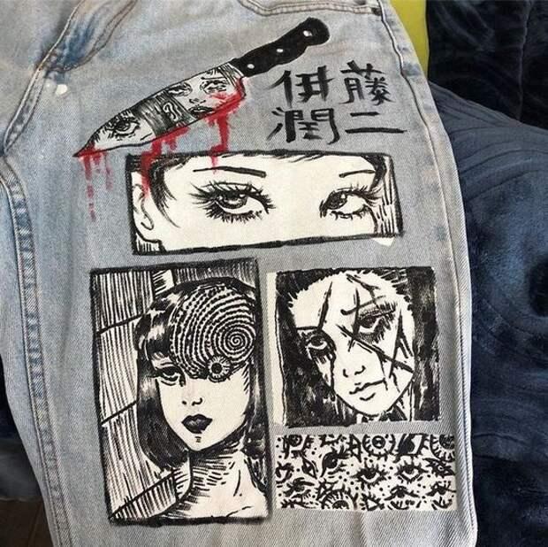 роспись на джинсах