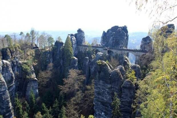 Скалистый бастион Саксонии (25 фото)