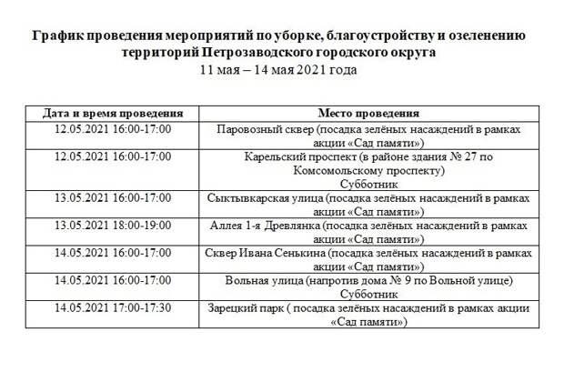 На этой неделе жителей Петрозаводска приглашают на субботники