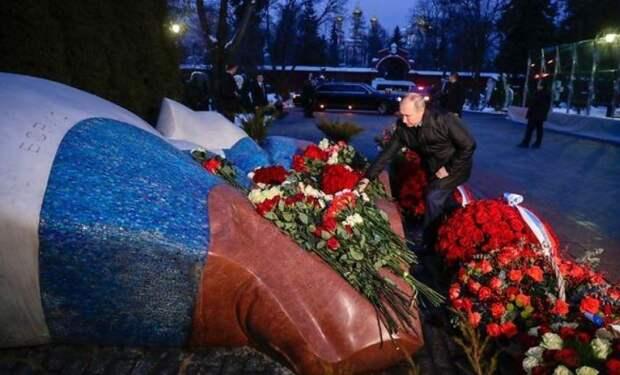 Надвигается буря: поведение Путина у могилы Ельцина