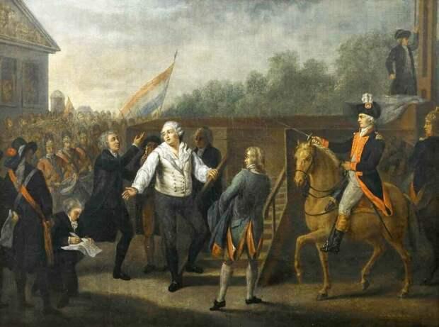 Людовика XVI ведут на эшафот (и кричат имя Жака де Моле?)
