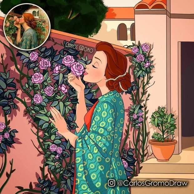 19 ремейков классических картин, куда добавили персонажей Диснея