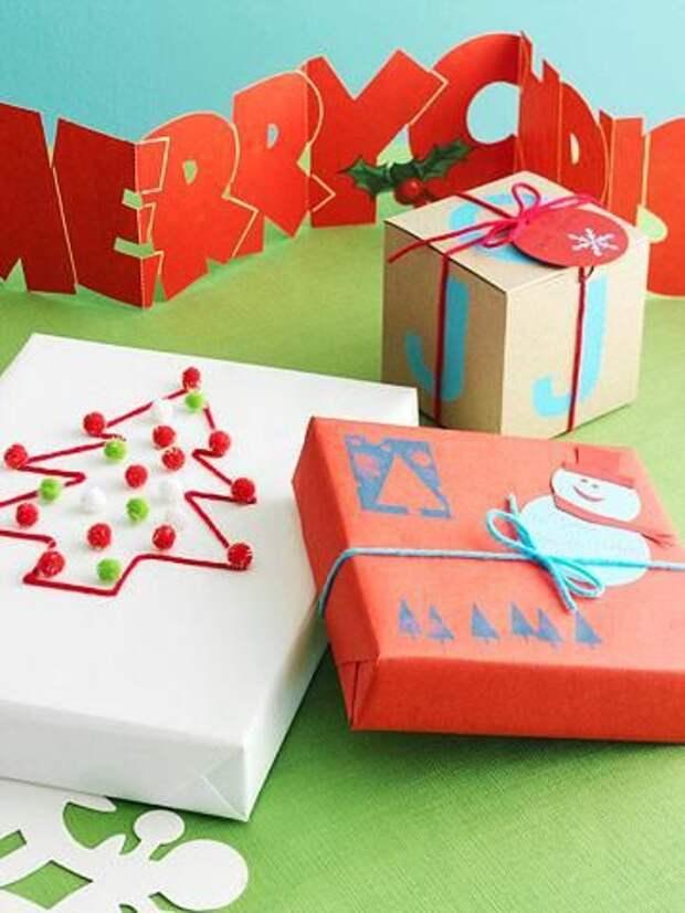 Упаковка подарков на Новый год