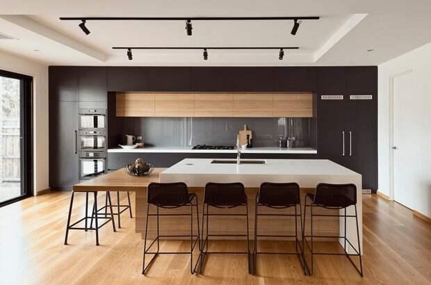 Отменное решение для декорирования кухни в черных оттенках, что станет просто находкой.