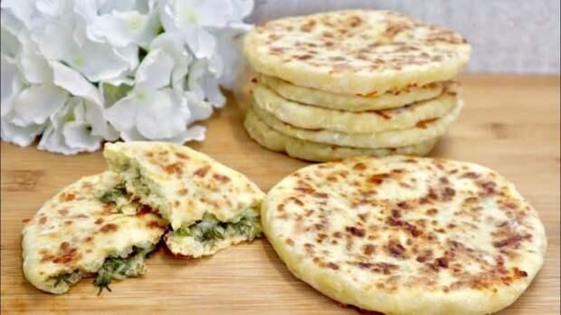 Кефирные лепёшки с сыром и зеленью. Вкусный завтрак, который съедается за секунды 2