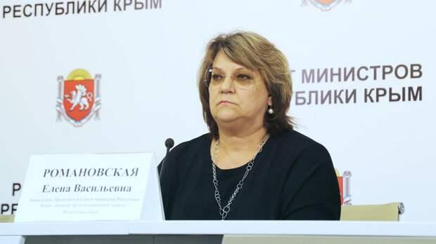 Вице-премьер Крыма Елена Романовская заболела коронавирусом