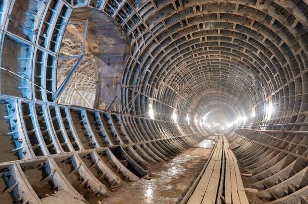 На станции БКЛ «Марьина Роща» уже сооружают пересадочный коридор на «салатовую» ветку