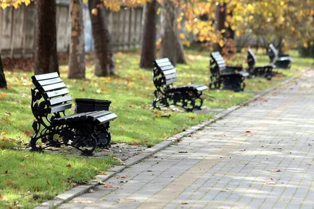 Парк, Скамейки, Осень, На Открытом Воздухе, Тротуар