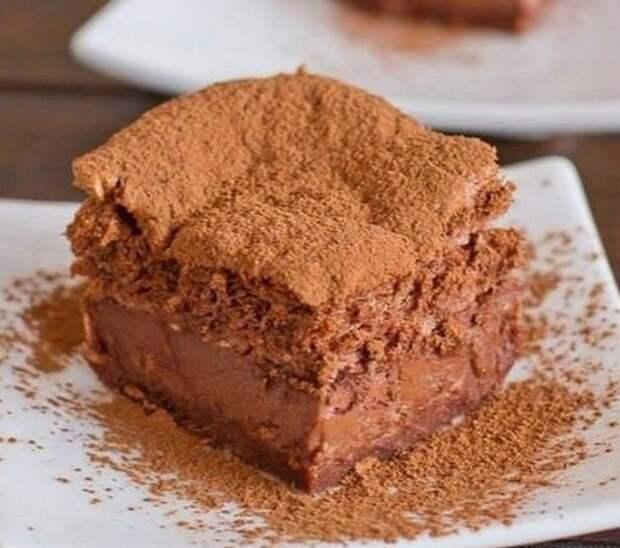Шоколадный пирог с ЖИДКИМ ЦEНТРOМ
