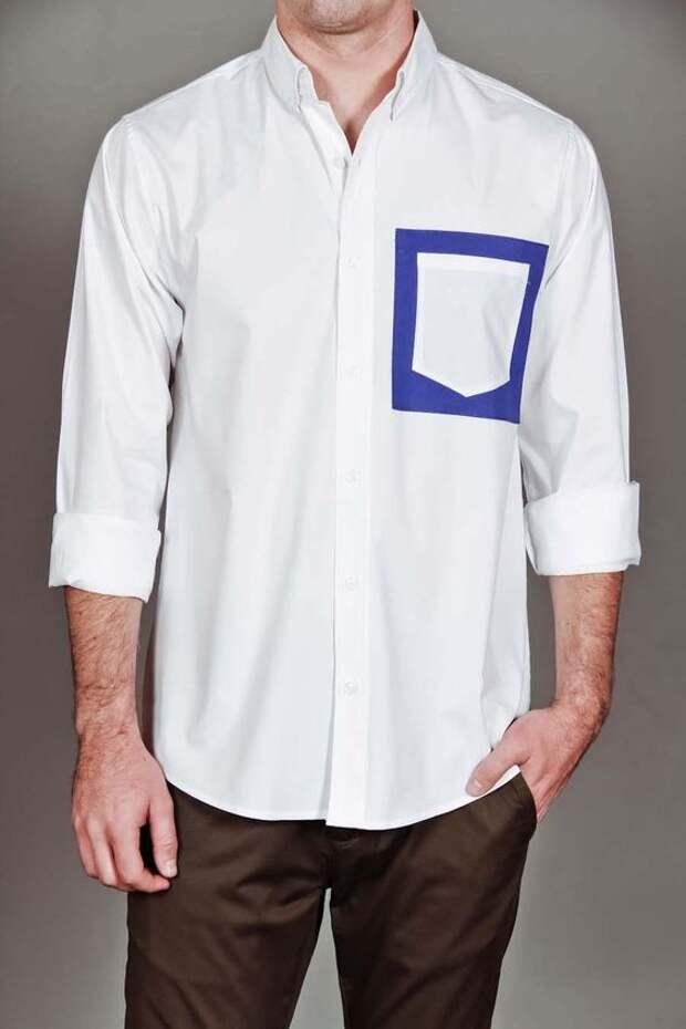 Карманы на мужских рубашках (трафик)
