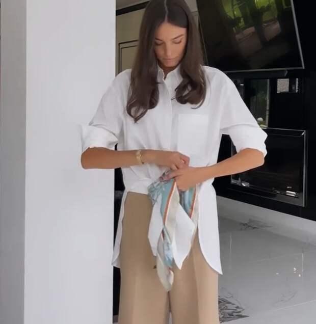 Новые способы носить платок