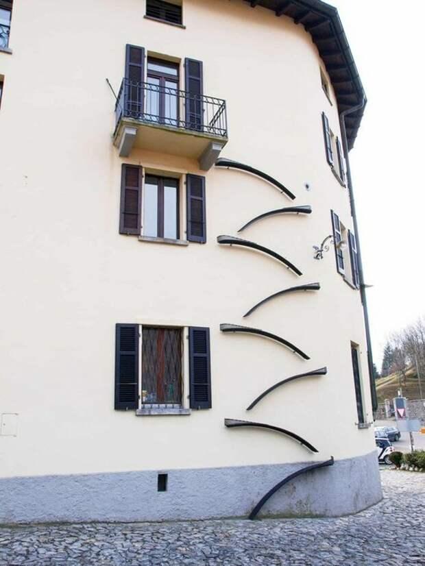 Лестница для экстремалов звонки, идеи для дома, идели для дачи, калитки, мангалы, светильники, скамейки, удобно
