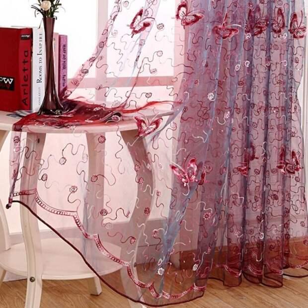 Шторы из вуали двух цветов для зала: тонкости выбора оконного декора (70 фото)