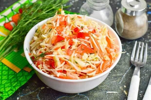 Салат Панагюрский. Вкусный и лёгкий салатик с молодой капустой 4