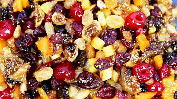 Фото к рецепту: Сухофрукты и цукаты в сиропе для выпечки