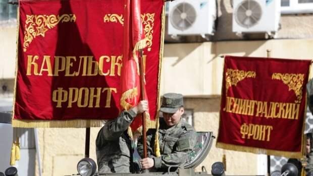 Военные на бронеавтомобилях провели автопробег в центре Новосибирска