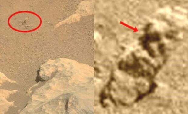 Марсоход снял человекоподобную фигуру