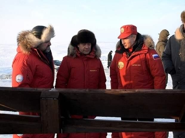 Путин вывез Медведева на мерзлую Землю Франца-Иосифа
