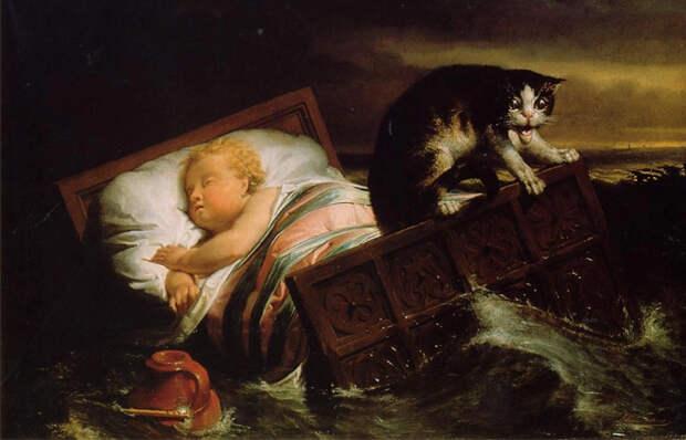 Правда и вымысел на картине Альма-Тадемы «Наводнение в Бисбосе в 1421 году»