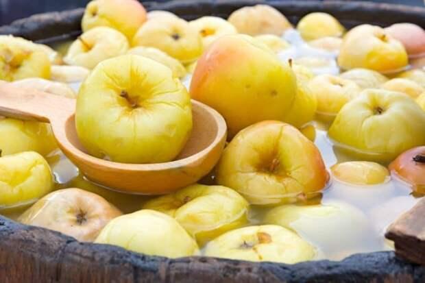 Мочёные яблоки без бочки