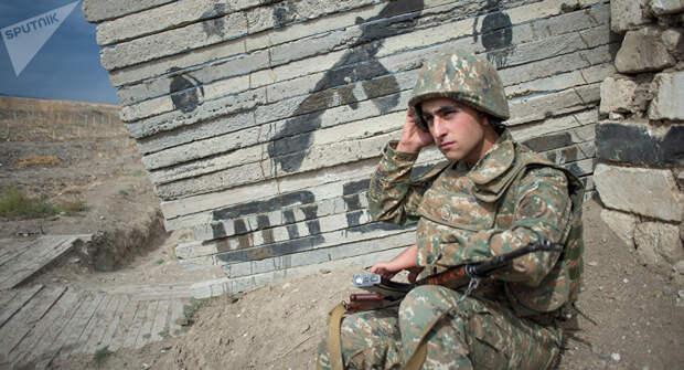 Военнослужащий армии Нагорно-Карабахской Республики.
