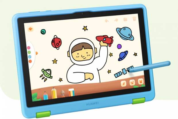 Huawei MatePad T10 Kids Edition: планшет для детей с защитным чехлом из пищевой резины и стилусом за $200