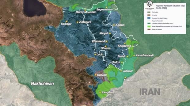 Боевые действия в Карабахе 23-25.10.2020