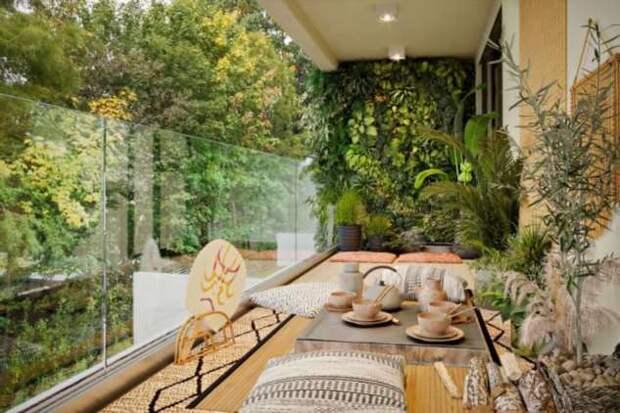 Как превратить балкон в уединенное место отдыха