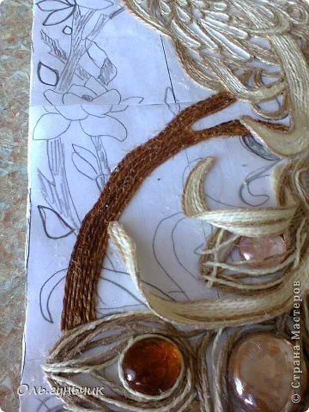 Картина панно рисунок Мастер-класс Моделирование конструирование Филигранный павлин МК Шпагат фото 34