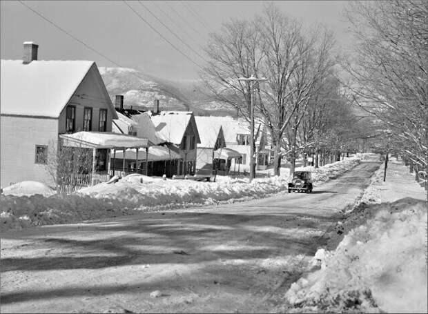 Жилой район Норт-Конвей, Нью-Гэмпшир, февраль 1940 г.
