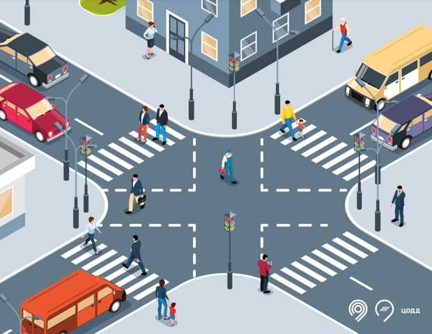 На трех улицах Марьиной рощи обновят диагональные пешеходные переходы