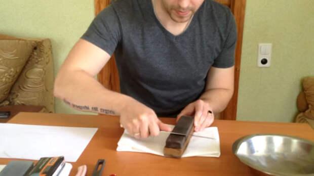 Теперь даже самый тупой кухонный нож разрежет бумагу как по маслу