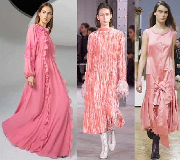 Красивые розовые платья 2018-2019