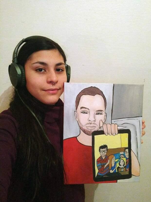 Поддержка для начинающего художника в социальной сети