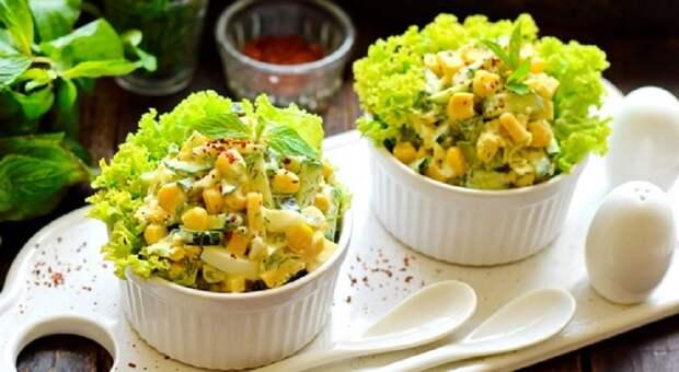 Нежный салат «Одесса» с кукурузой: сытный, хоть и без мяса