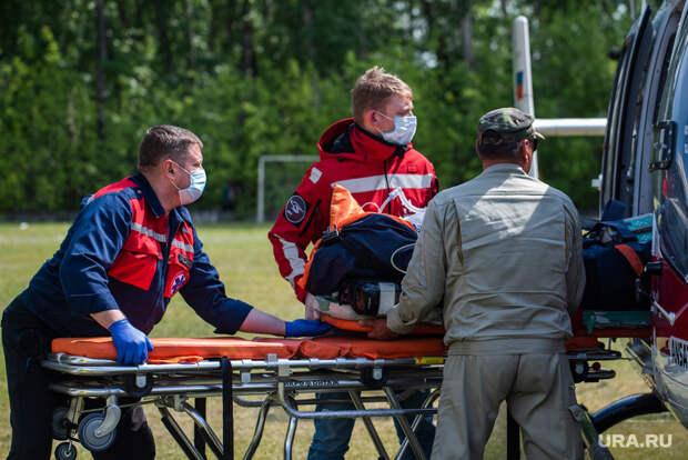 Опубликованы кадры сместа крушения самолета вКузбассе