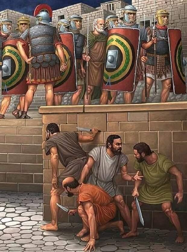 Сикарии были боевиками радикальных религиозных зелотов / Источник: cz.pinterest.com