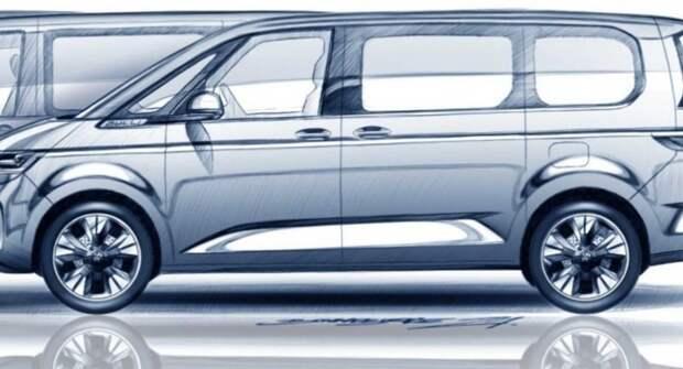 Volkswagen опубликовал новый тизер пассажирского Multivan T7