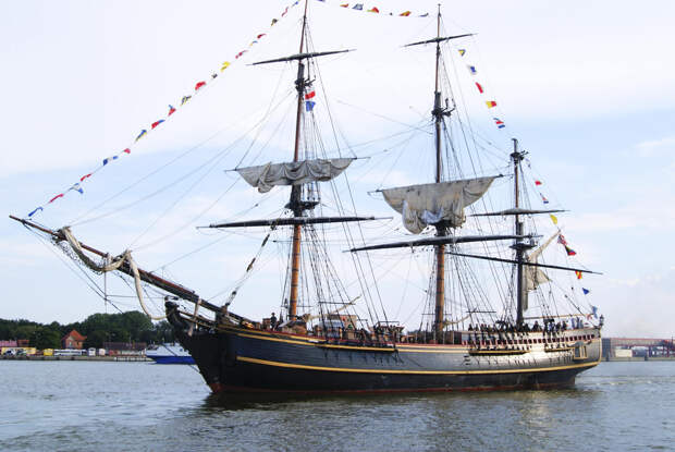 The replica HMS Bounty tall ship is shown in this 2011 handout photo supplied by HMS Bounty Organization LLC