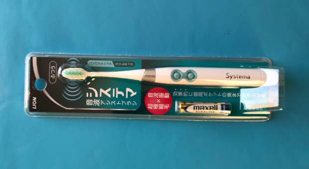 Зубная ультразвуковая японская щётка LION Электрическая зубная щетка с компактной головкой Dentor Systema Sonic Assis