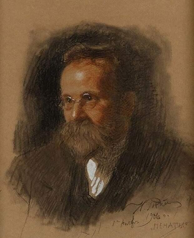 Н.А. Морозов на портрете, написанном Репиным после выхода из заключения, 1906 год