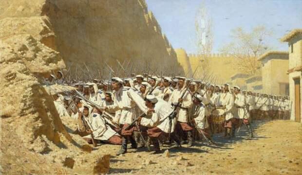 Работа одного из наиболее выдающихся художников-баталистов в истории живописи.