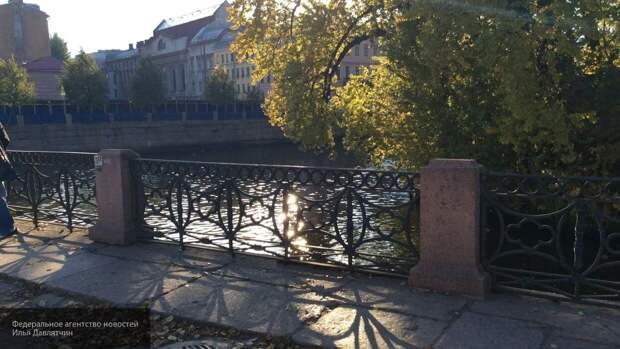 Петербургский полицейский спас женщину, упавшую в Крюков канал