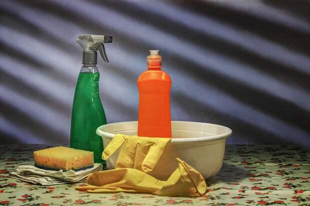 Уборка, Чистота, Очиститель, Таз, Моющее Средство